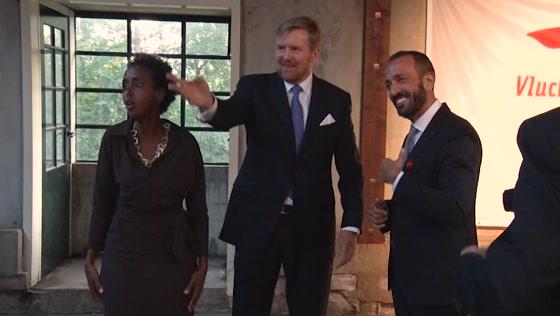 Koning bezoekt veertigjarig jubileum VluchtelingWerk