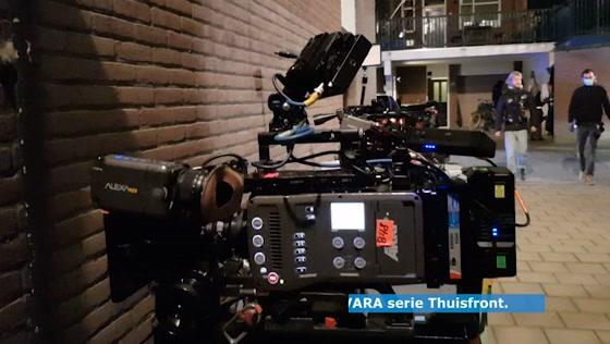 Opname tv serie Thuisfront