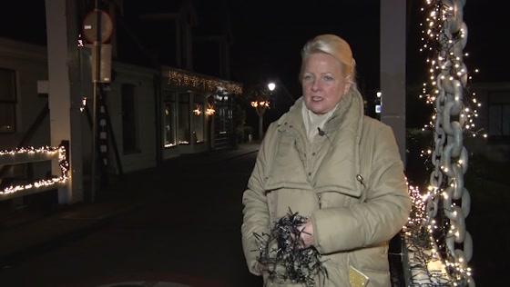Opnieuw kerstverlichting doorgeknipt in Westzaan