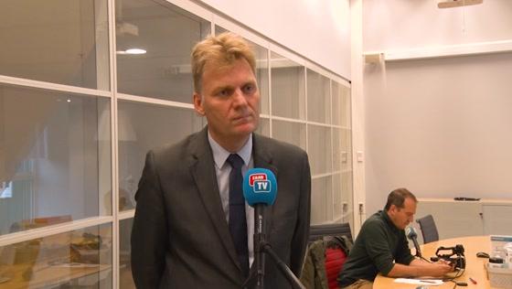 Persmoment Burgemeester Jan Hamming