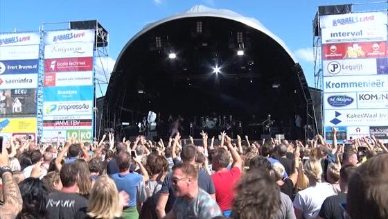 Topbands op het podium tijdens Babbels Live 2019