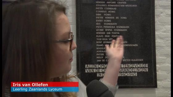 Zaanland Lyceum herdenkt Joodse slachtoffers Tweede Wereldoorlog
